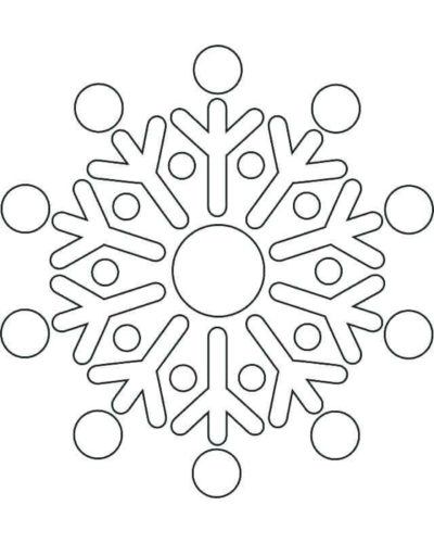 Simple Snowflake Coloring Pages Printable