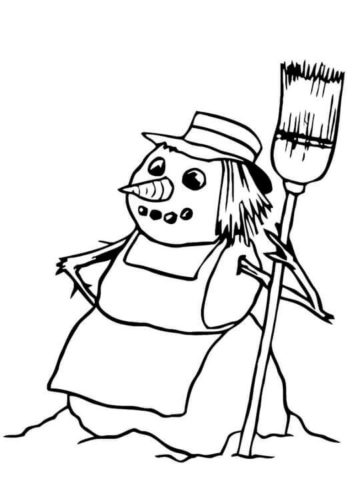 Snow Woman Coloring Pages