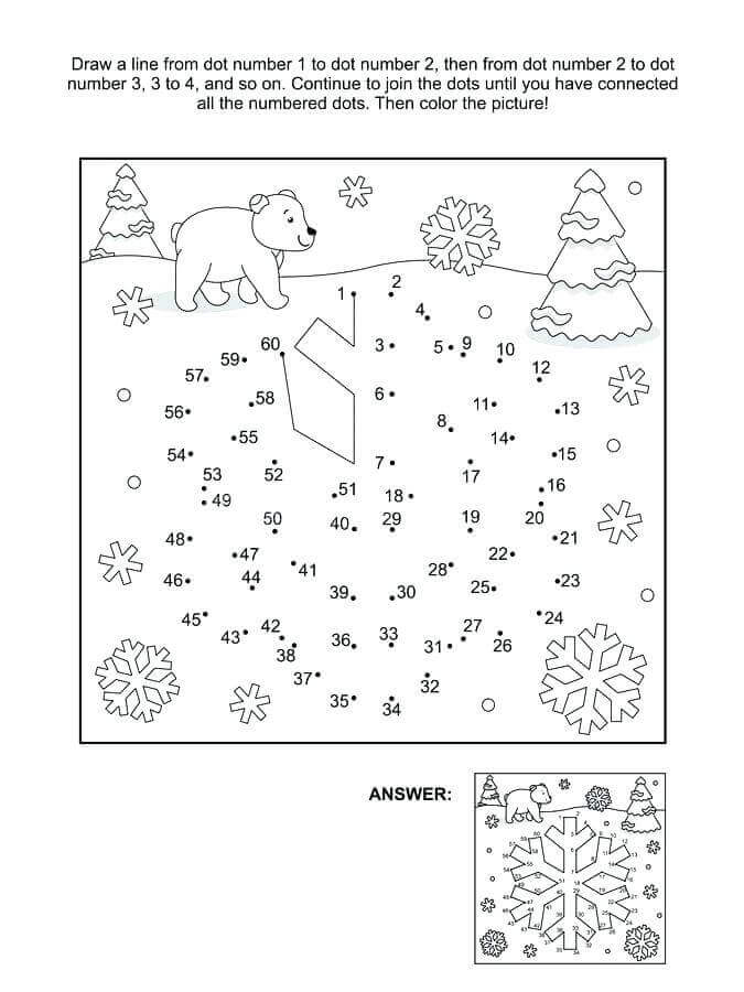 Snowflake Activity Sheet For Kids