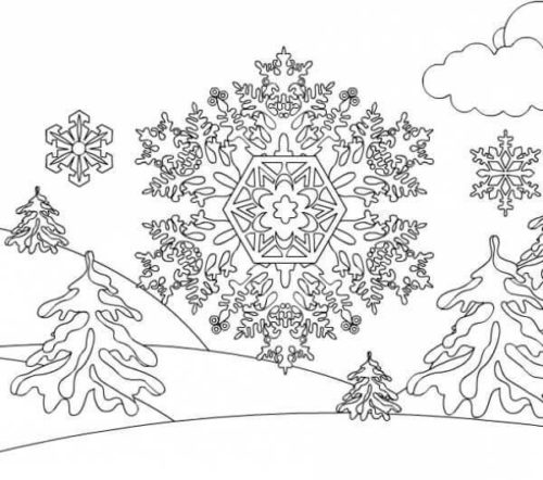 Snowflake Coloring Sheets Printable