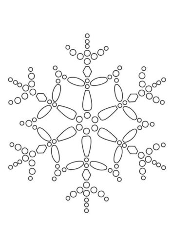 Snowflake Coloring Sheets To Print