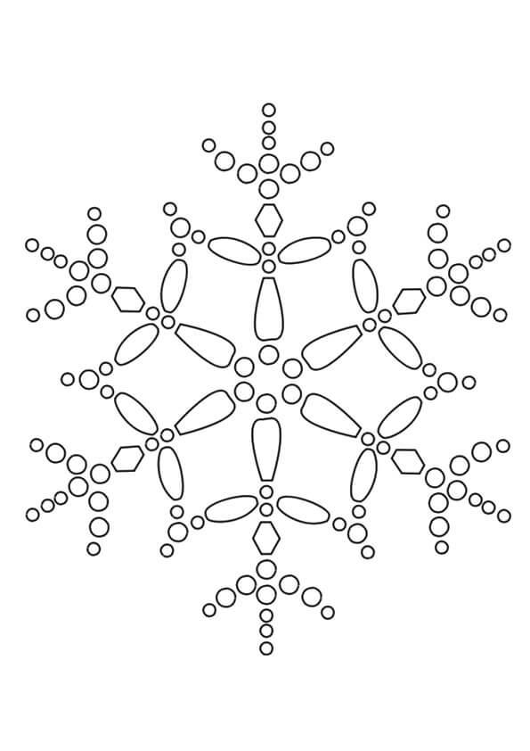 Snowflake Coloring Sheets To Print