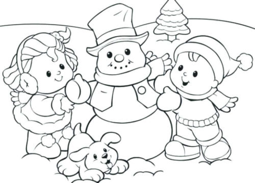 Snowman Coloring Sheets Printable