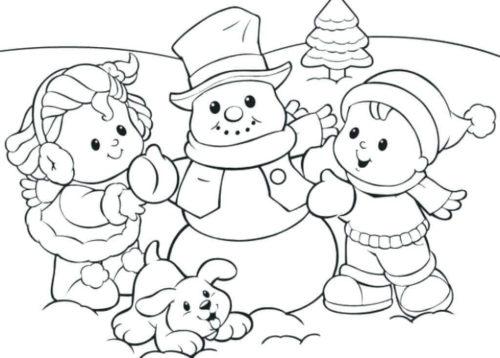 Snowman Coloring Sheets Printable