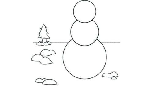 Snowman Outline Template