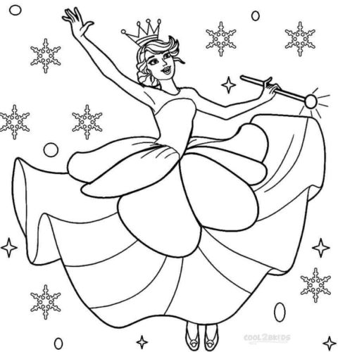 Sugar Plum Fairy Coloring Pages