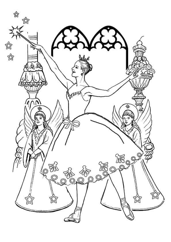Sugar Plum Fairy From Nutcracker Coloring Pages