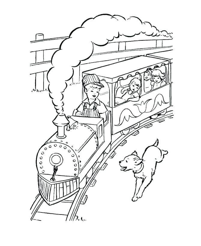 The Polar Express Coloring Pages For Kids
