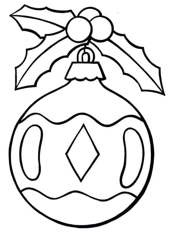Traditional Christmas Ornament Coloring Page
