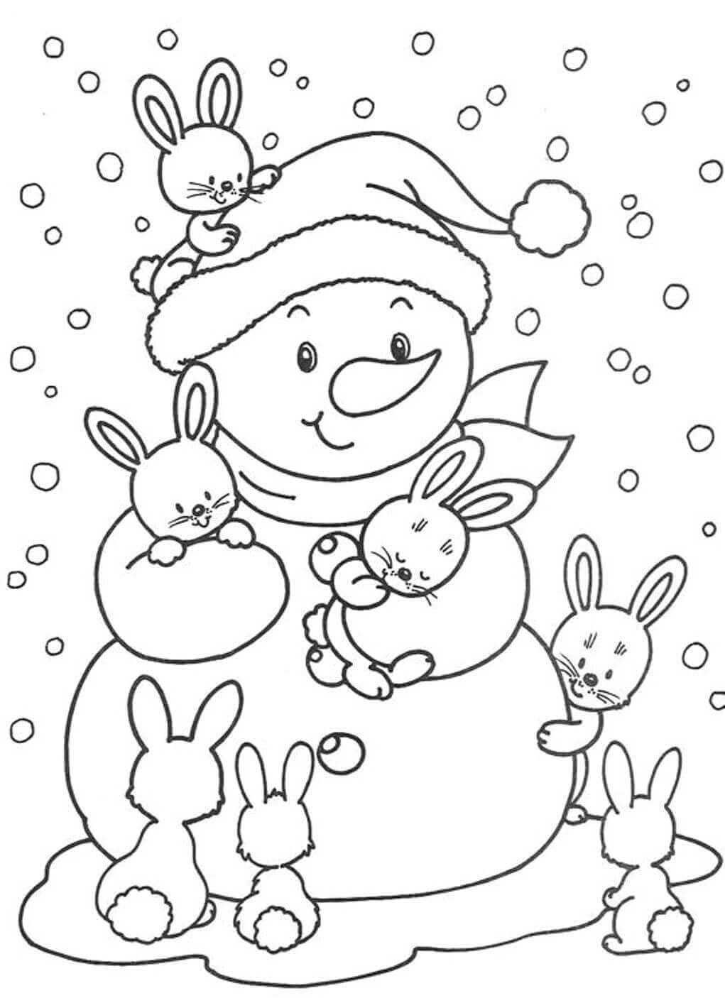 Winter December Coloring Page
