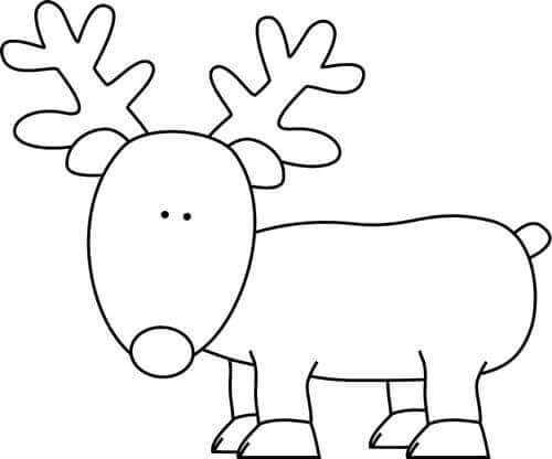 reindeer Coloring Pages For Preschoolers