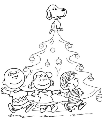 A Charlie Brown Christmas Coloring Pages Free Printable