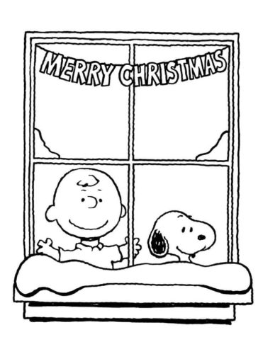 Free A Charlie Brown Christmas Coloring Pages Printable