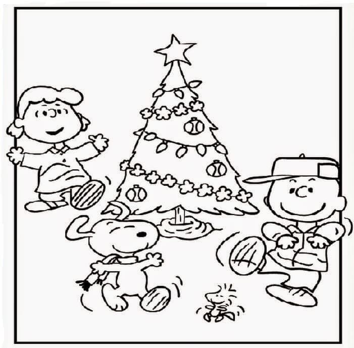 A Charlie Brown Christmas Coloring Pictures Free Printable