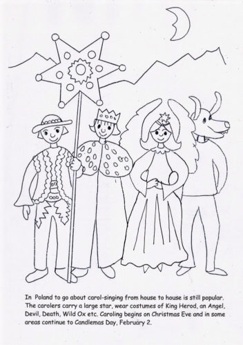 Carolers Coloring Pages