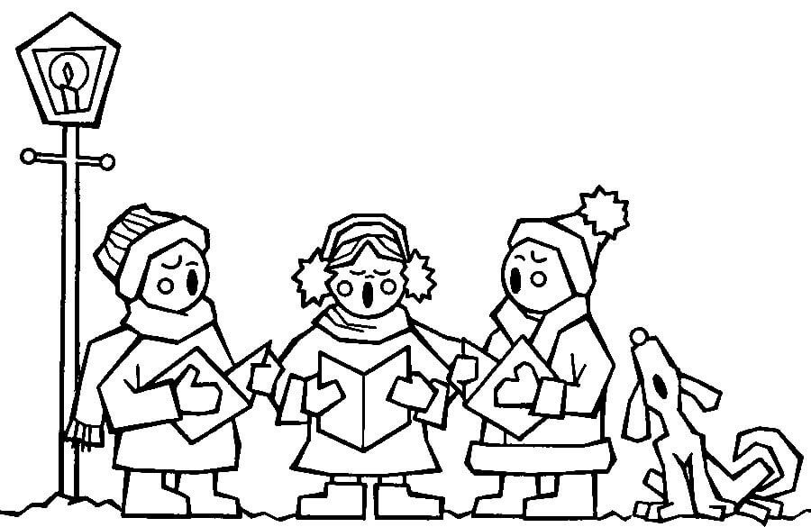 Christmas Choir Coloring Page