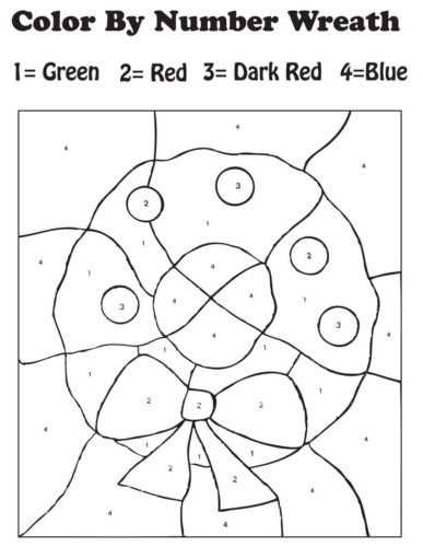 Christmas Color By Number Activity Sheet