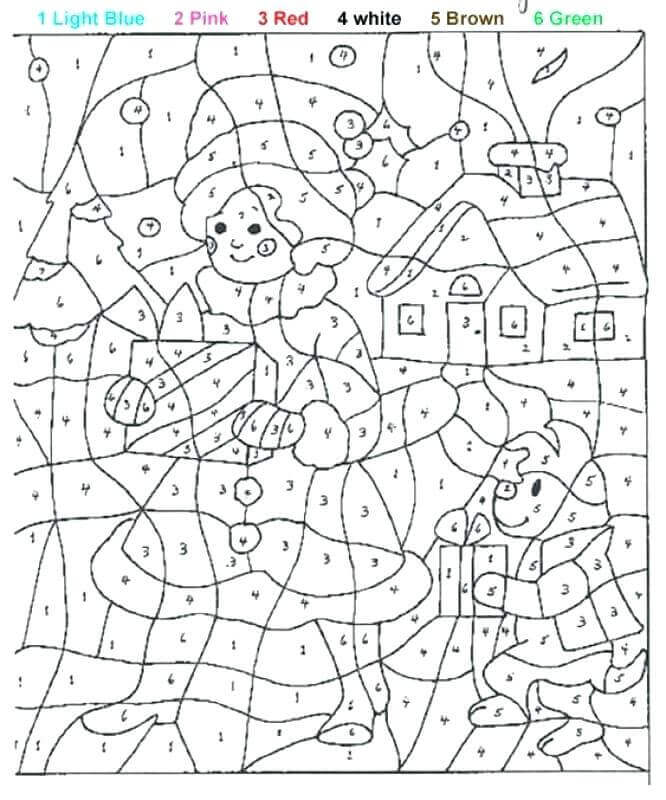Christmas Color By Number Activity Sheet To Print