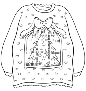 Christmas Decoration Ugly Sweater Coloring