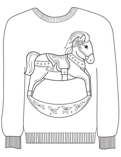 Christmas Sweater Coloring Page