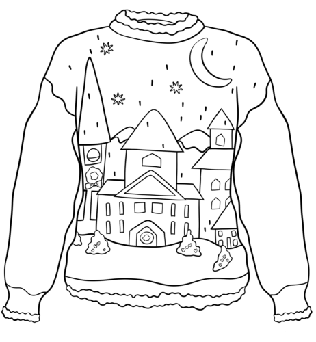 Christmas Sweater Coloring Pages Printable