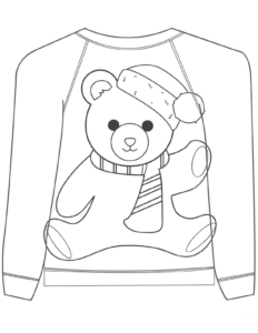 Christmas Sweater Coloring Pages To Print