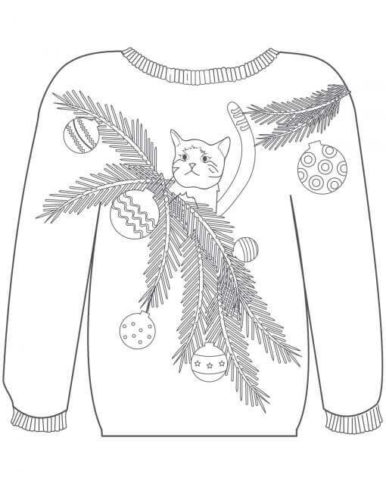 Christmas Sweater Coloring Sheets To Print