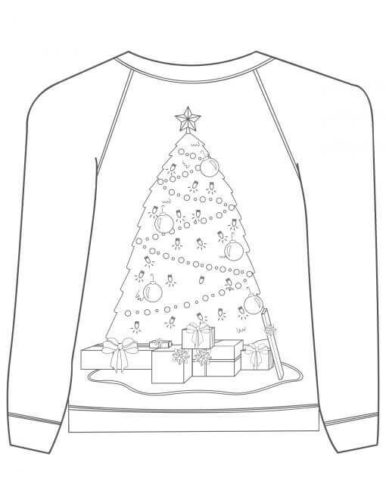 Christmas Tree Ugly Christmas Jumper Coloring Page