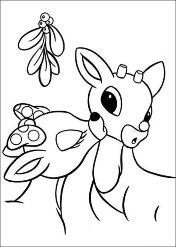 Clarice And Rudolph Coloring Page