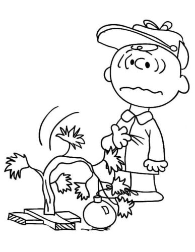 Disheartened Charlie Brown Coloring Page
