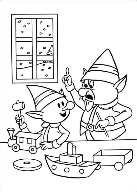 Elf Foreman Coloring Page