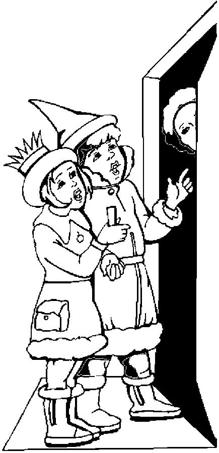 Free Christmas Carolers Coloring Pages