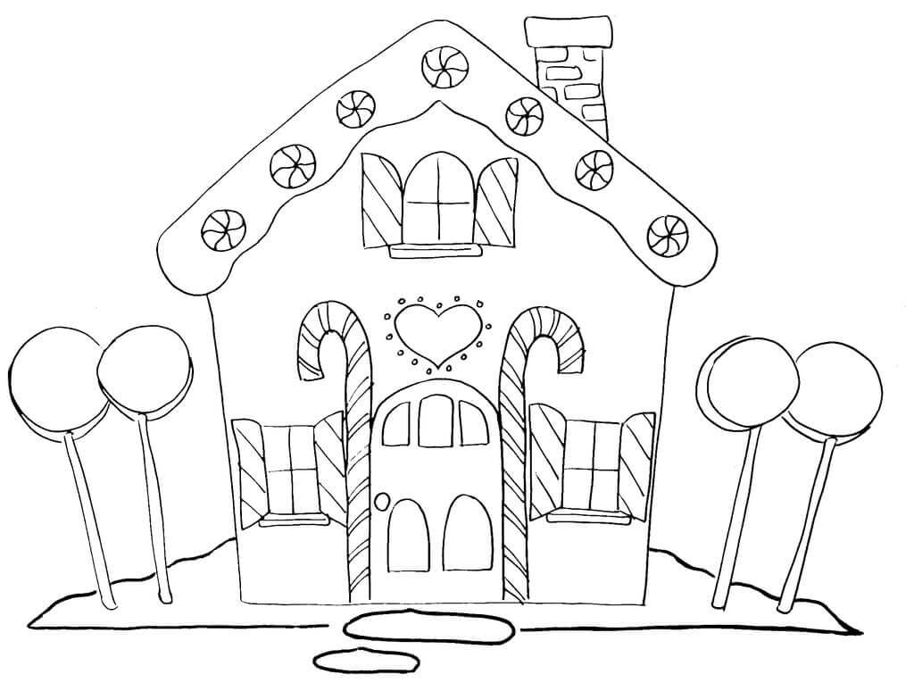 Free Gingerbread House Coloring Pages Printable