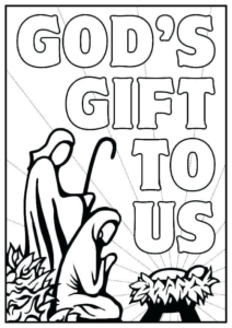Free Nativity Colouring Pictures For Kids