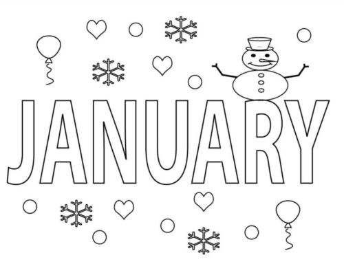 Free Printable January Coloring Pages