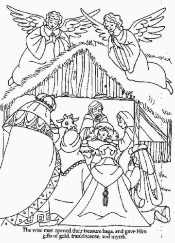 Free Printable Nativity Characters Coloring Pages