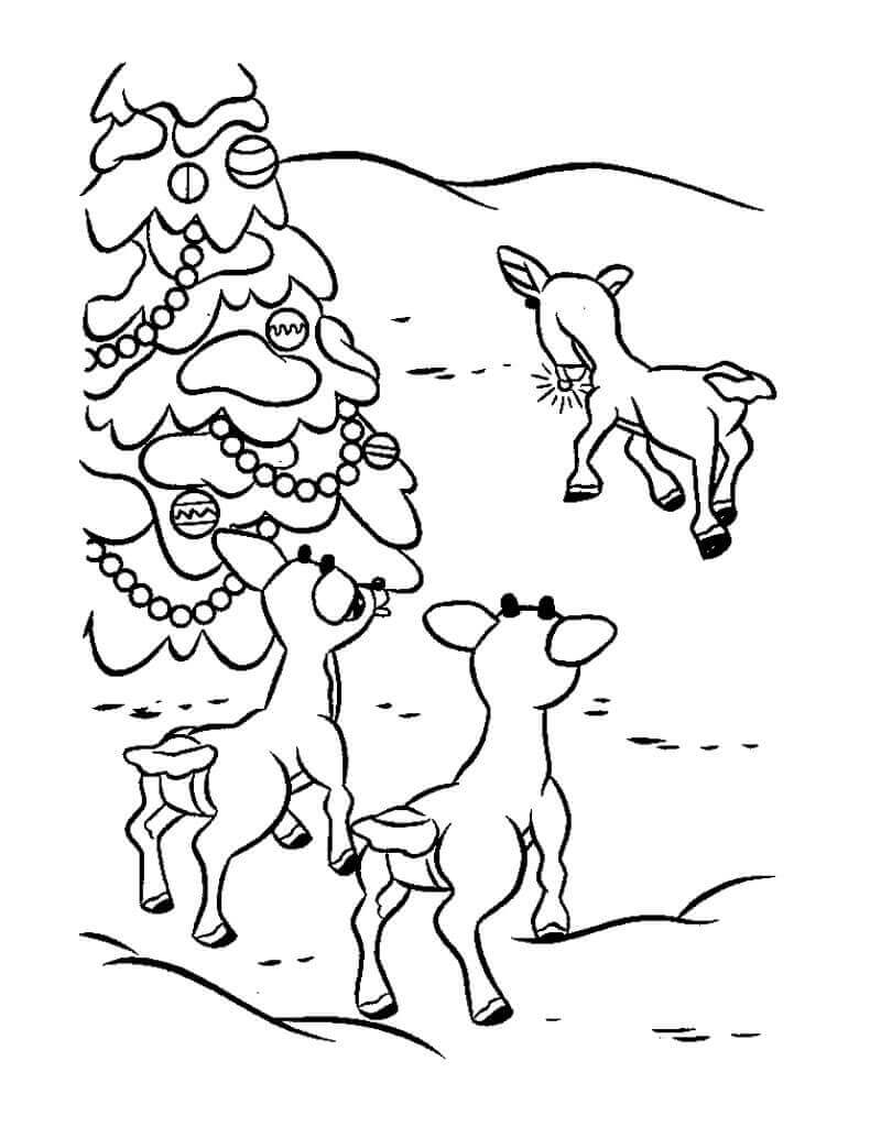 Free Rudolph Coloring Pages Printable