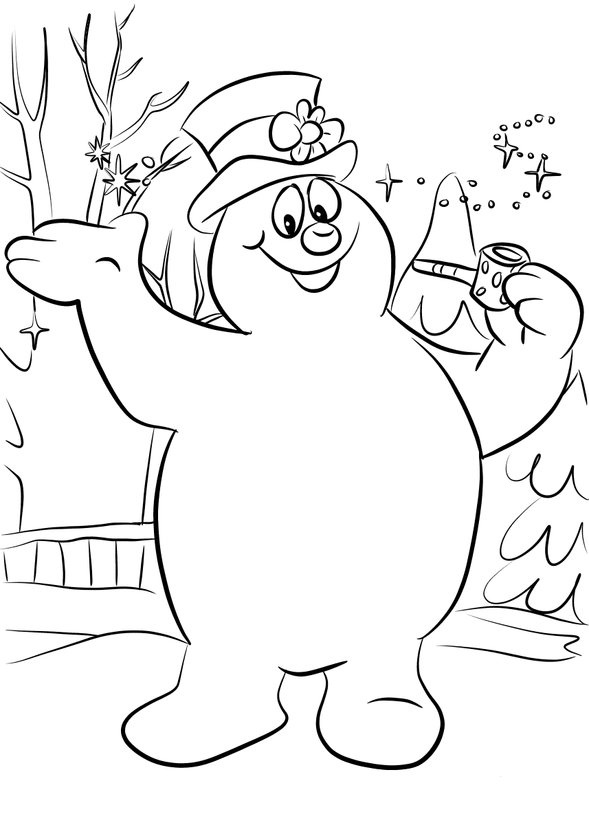 Frosty Coloring Page Printable