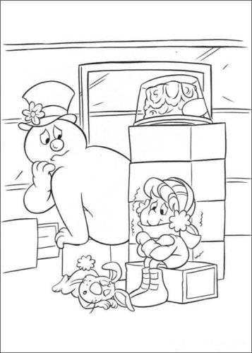 Frosty The Snowman Coloring Sheets Printable