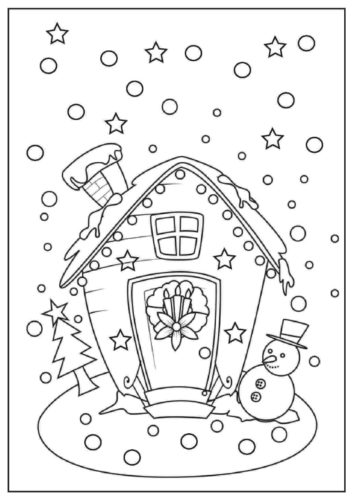 Gingerbread House Coloring Sheets Printable