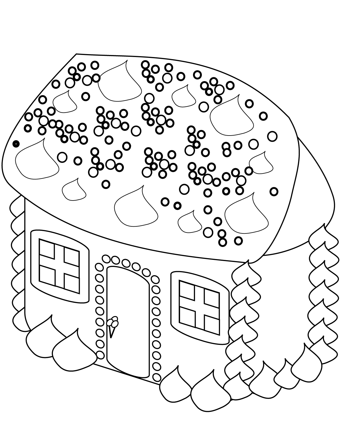 Gingerbread House Coloring Sheets To Print
