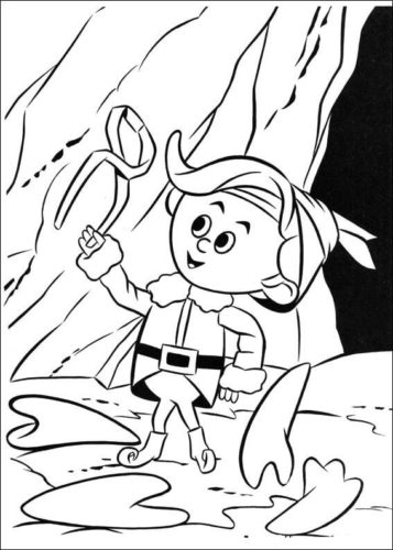 Hermey From Rudolph The Red Nosed Reindeer Coloring Page