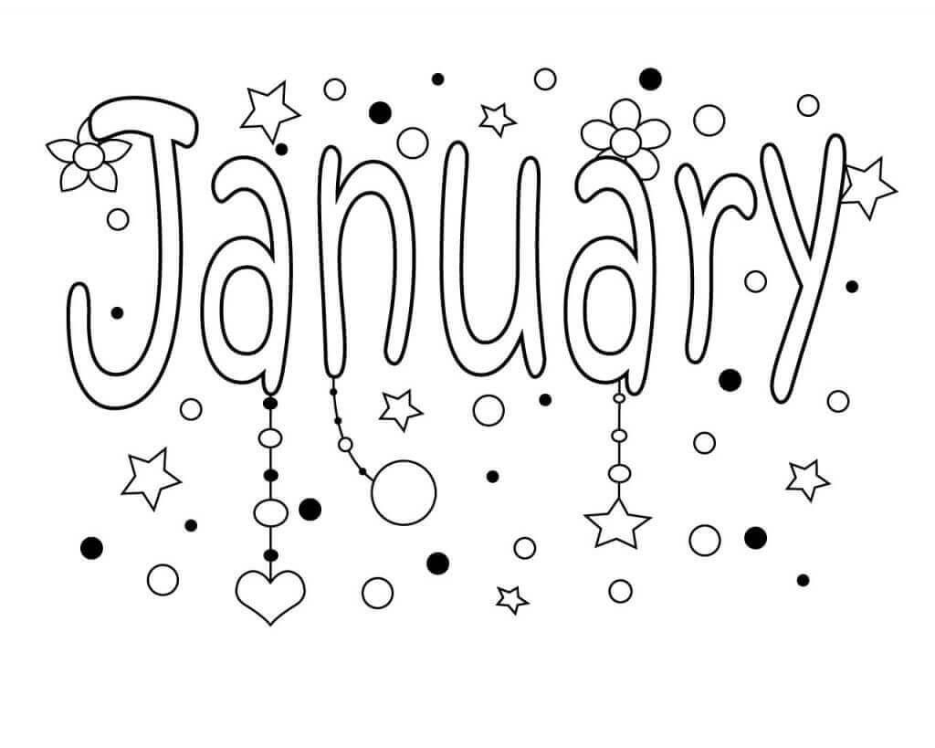 January Month Coloring Pages