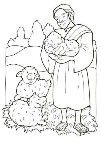 Joseph Nativity Coloring Sheet Printable