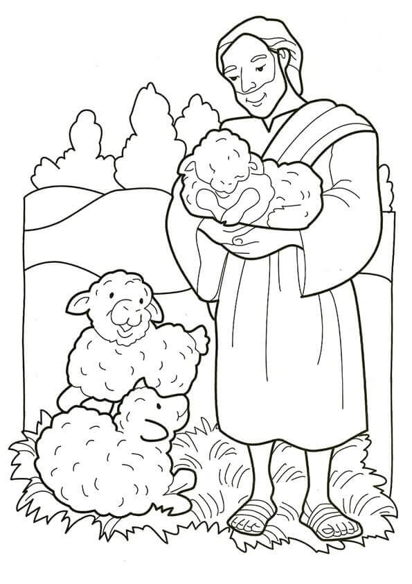 Joseph Nativity Coloring Sheet Printable