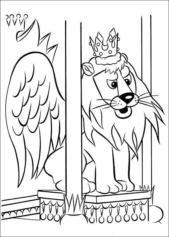King Moonracer From Rudolph Movie Coloring Page