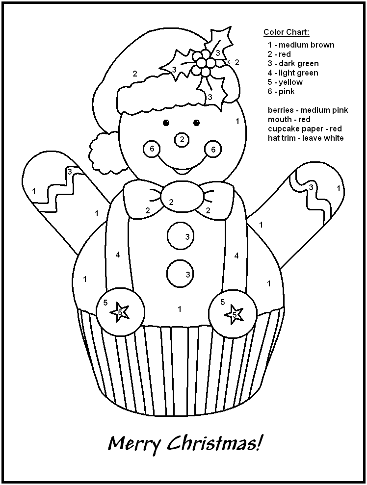 Merry Christmas Coloring By Number Printables