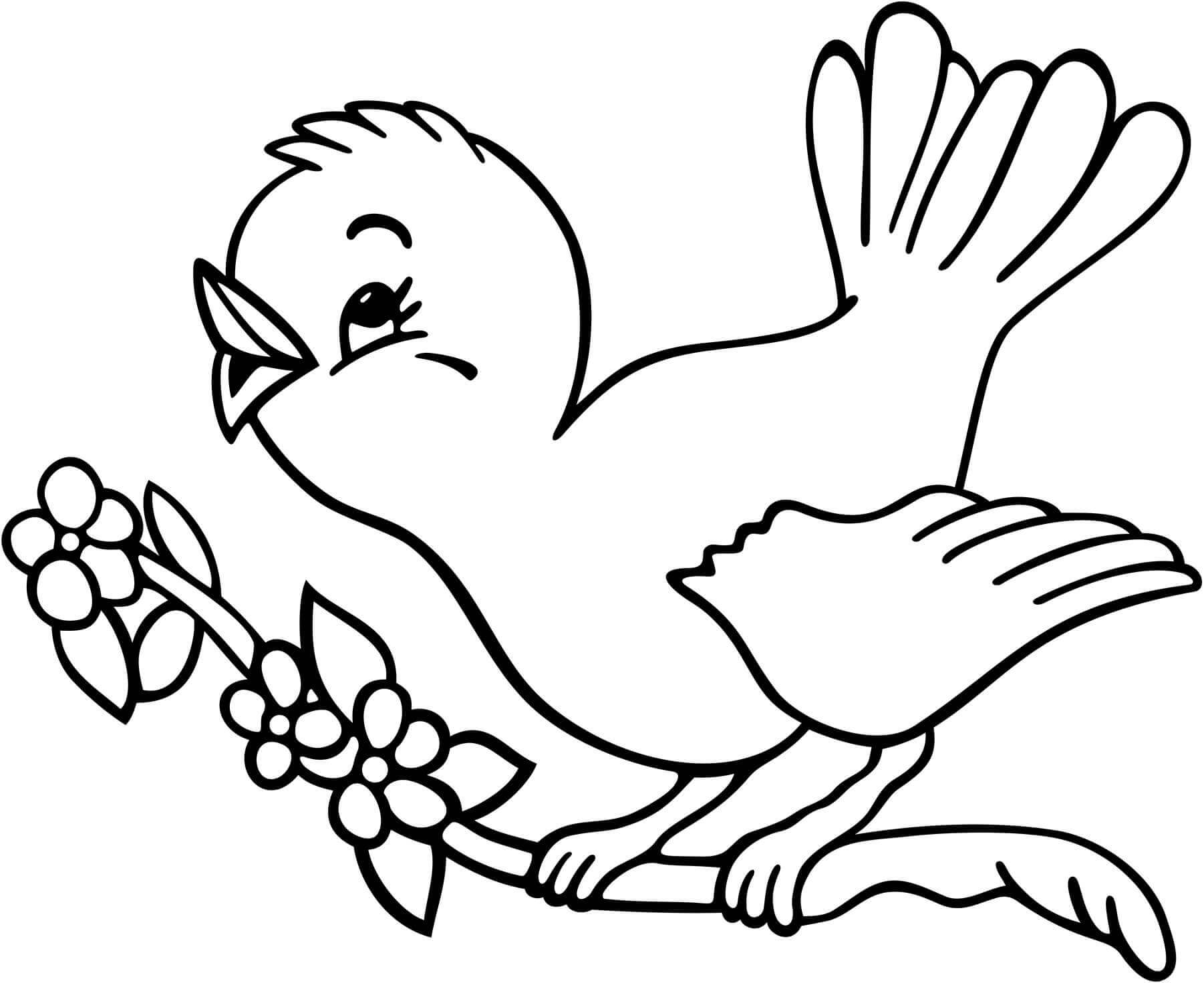 National Bird Day Coloring Page