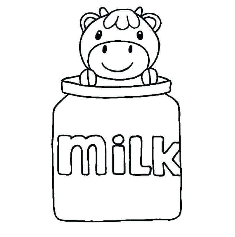 National Milk Day Coloring Page