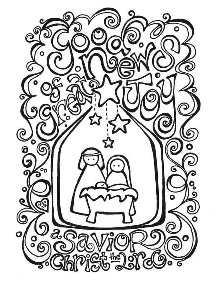 Nativity Coloring Pages For Adults